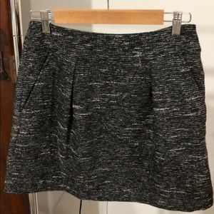 Loft sparkly tweed skirt with pockets